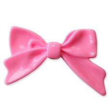 45mm BABY PINK Bright Bowknot Flatback Bow Cabochon